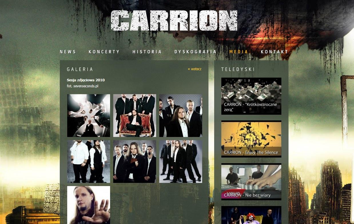 Sesja zdjęciowa dla grupy Carrion