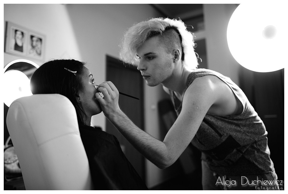backstage sesja fotograficzna