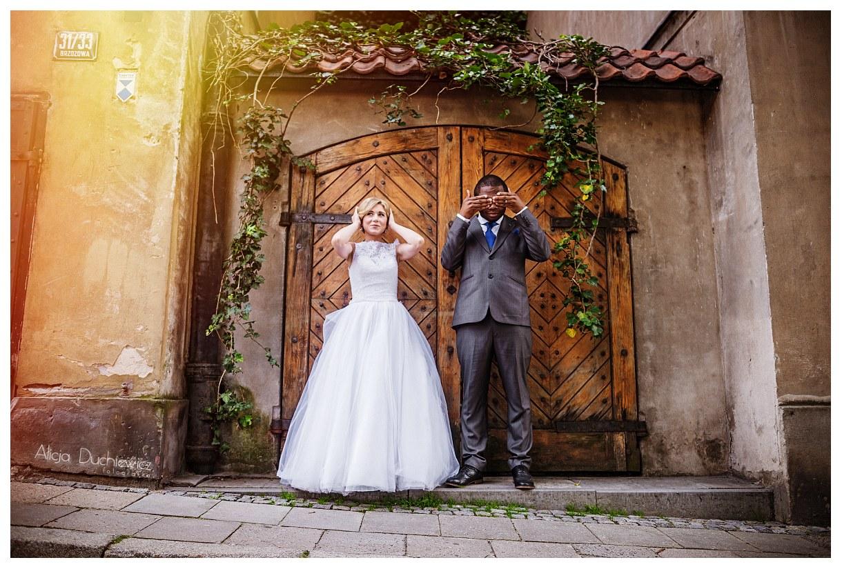 nieszablonowy plener ślubny