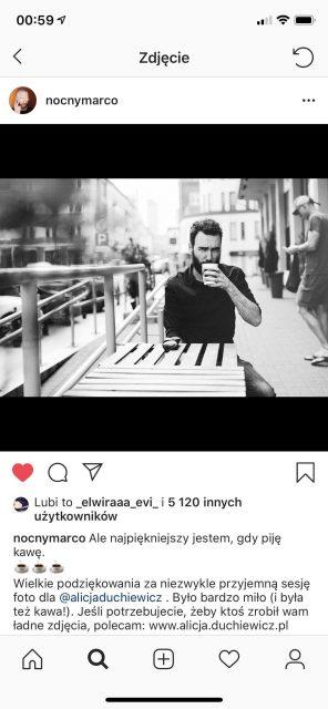 Youtuber Marco Kubiś - sesja zdjęciowa by Alicja Duchiewicz Fotografka // Publikacja na instagramie twórcy