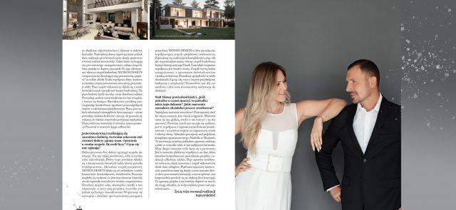 Publikacja w piśmie Osobowości i Sukcesy. Fot: Alicja Duchiewicz Fotografka, na zdjęciu Monika Białek Architekt